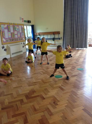 We were working on co-ordination in PE