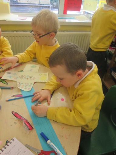 We are beginning to write sentences