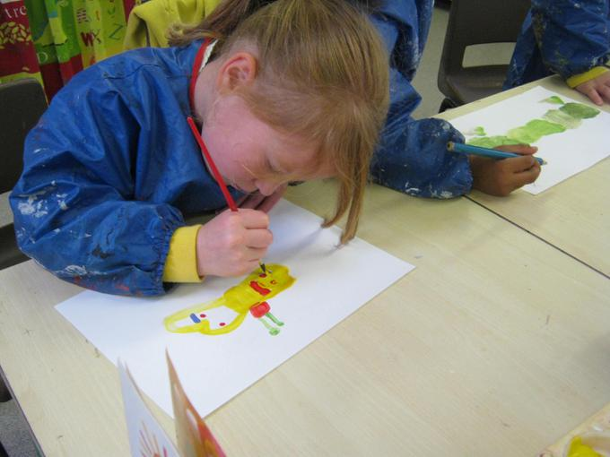 Painting pictures from the story
