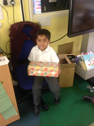 We shared our special boxes