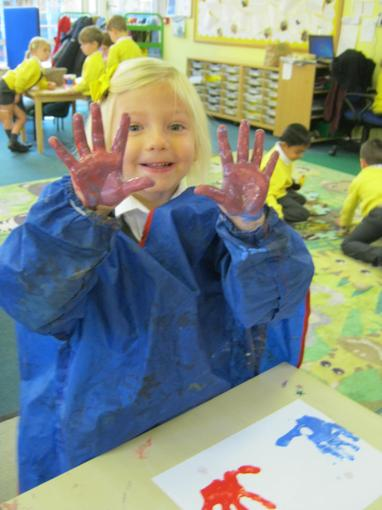 We investigated colour mixing this week