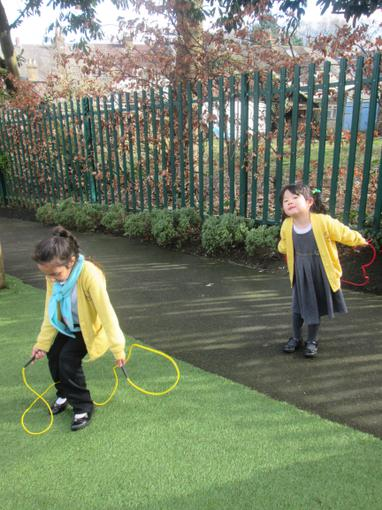 We have been learning how to skip