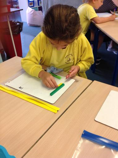 Showing each number as tens and ones