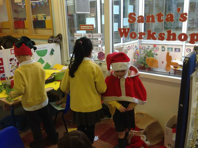 Enjoying our Christmas workshop