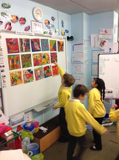 Turning the classroom into an art gallery