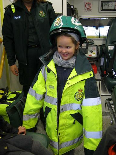 Trying on uniform