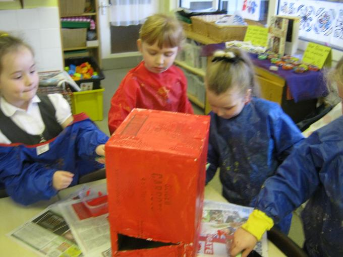 We made a postbox for our letters