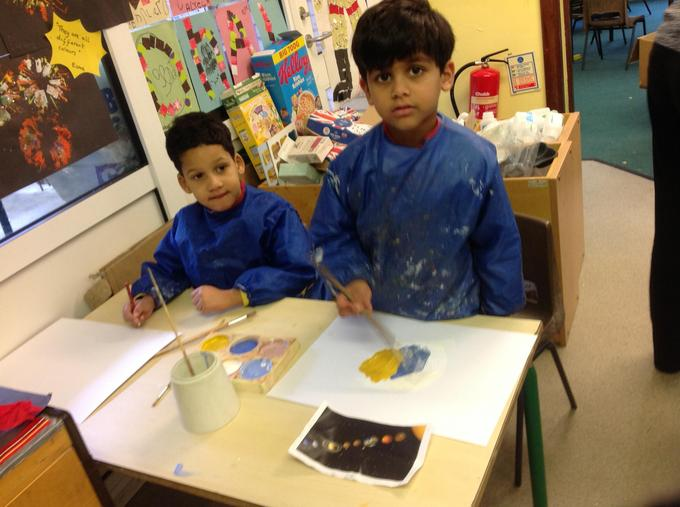 Painting pictures of planets