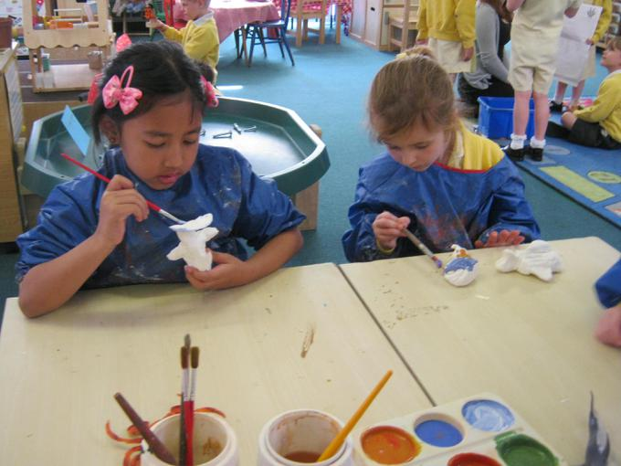 We painted our sea creatures