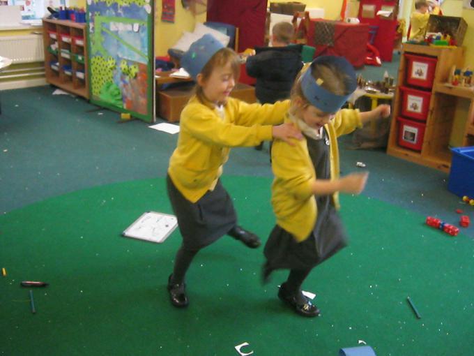Celebration dancing