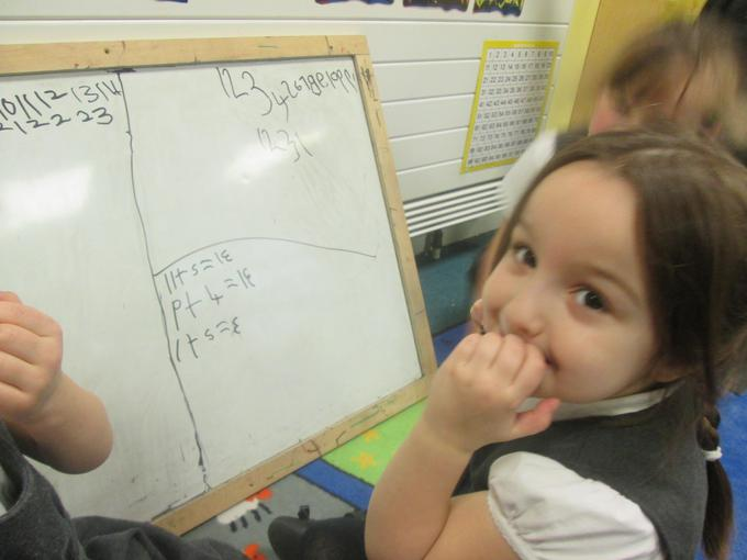 Writing addition calculations