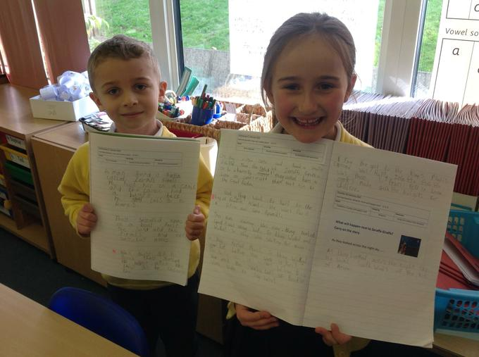 Look at our story writing!