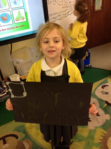 We drew constellation pictures