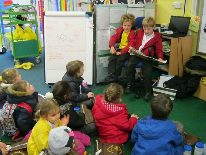 Reading stories to the class