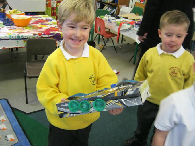 We made fire engines this week