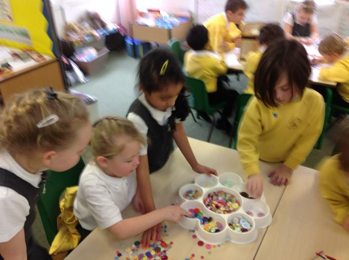 We loved sorting buttons!
