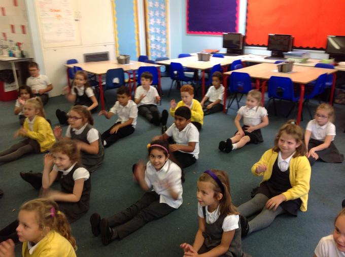 Some classroom yoga for feeling good day