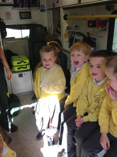The ambulance visited our school