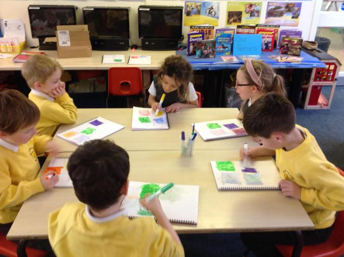 What shall we use to colour our pictures?
