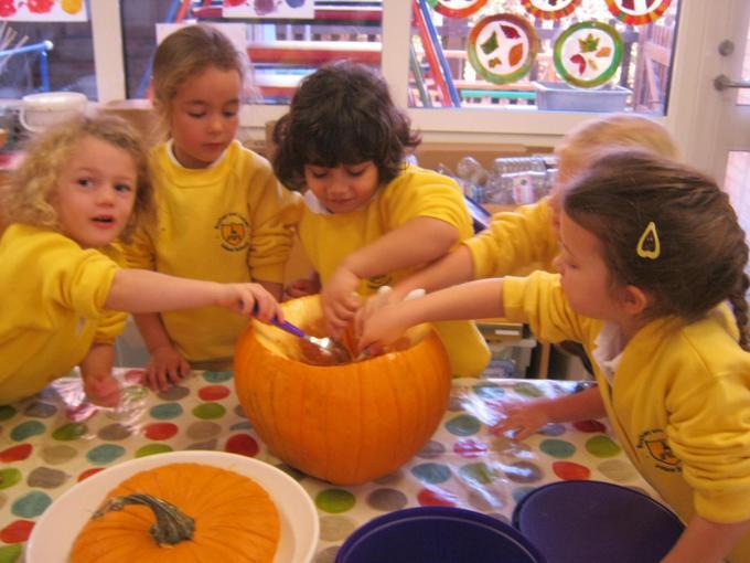 We prepared the pumpkin for Cook Jo