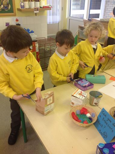 We made treasure chests