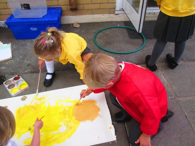 Selecting the colours of our new school uniform