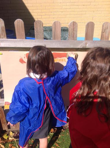 Painting our role play area