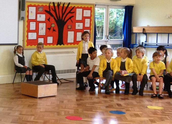 Sharing our learning in our class assembly