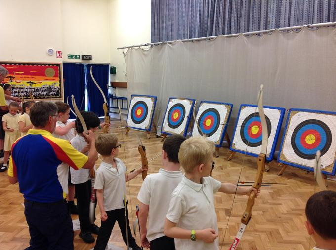 Look at our archery skills!