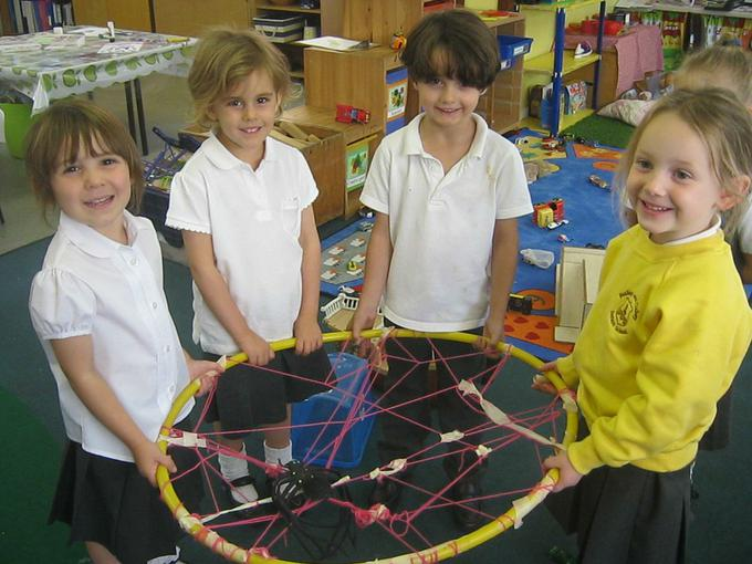 Creating a spider web