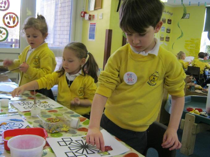 We decorated rangoli patterns