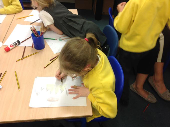 Drawing pictures to match the words