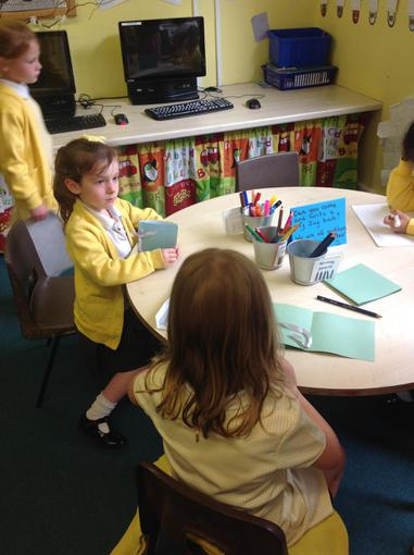 We made zig-zag books