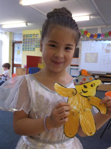Making split pin Pudsey bears