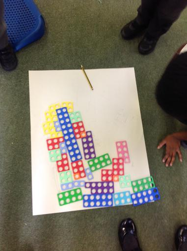 Making drawings with Numicon