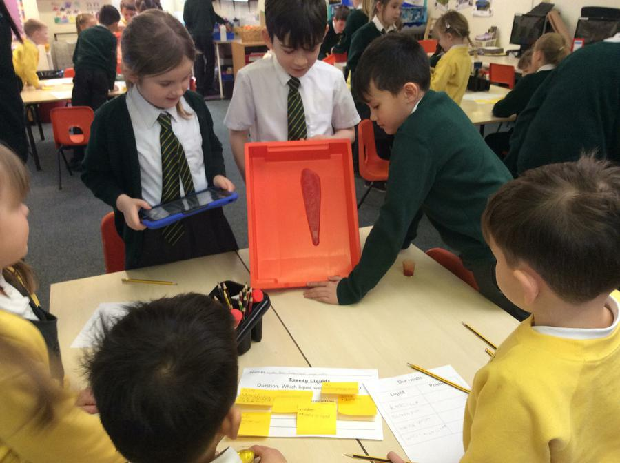 Testing runny liquids with Year 1