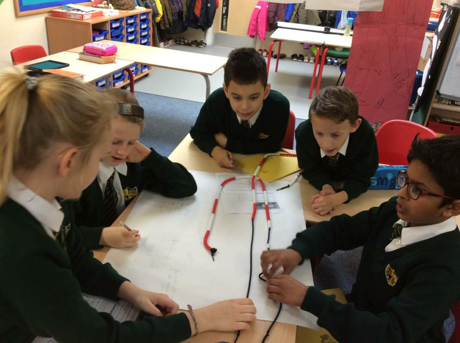 Using the bead string to prove our answers.