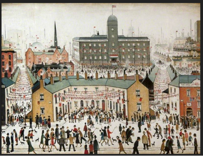 VE Day - L.S. Lowry