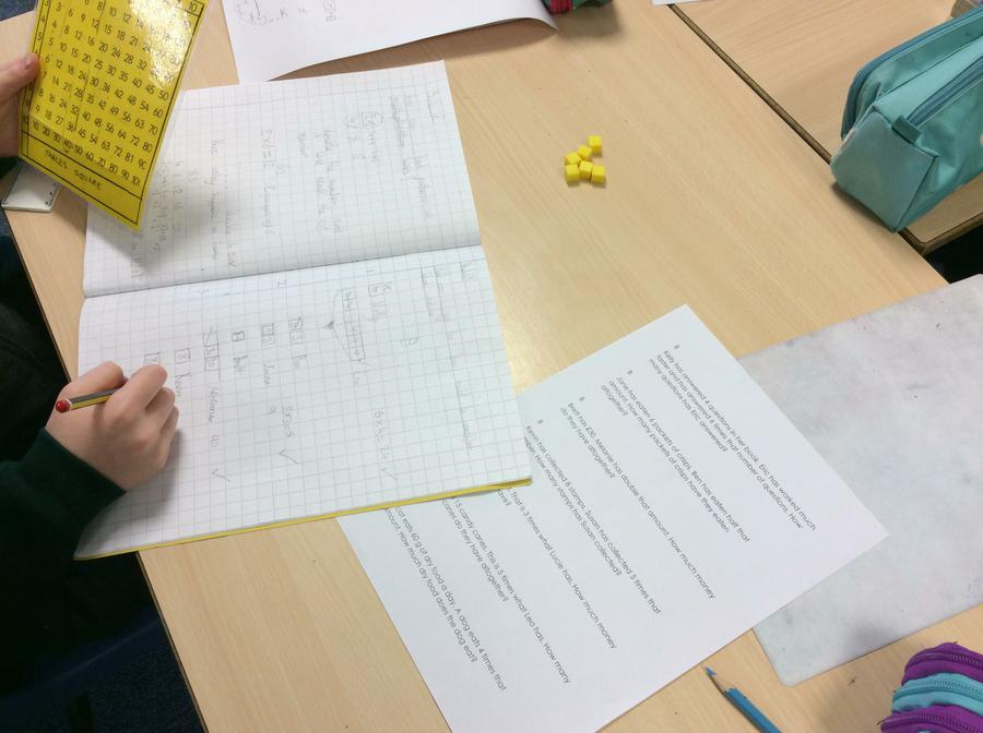 Using the Bar Method to understand multiplication.