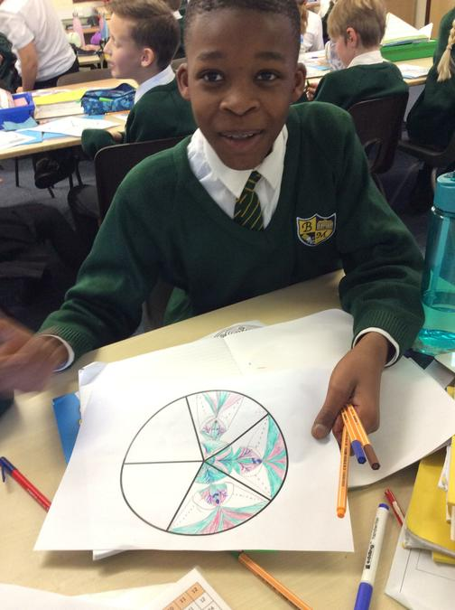 Completing a Buddhist Mandala in sections.