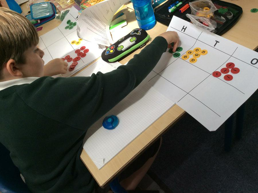 Dividing using counters