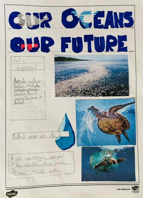 Joseph's World Oceans Day Poster
