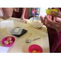 Baking our flapjacks