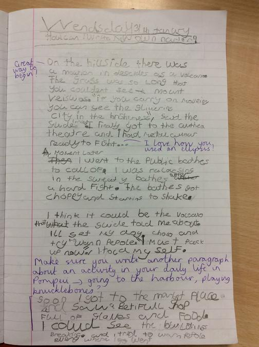 Sneak preview of our story writing