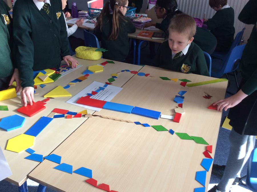 Shape dominoes - what comes next?