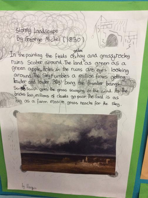 Using figurative language to explore a landscape