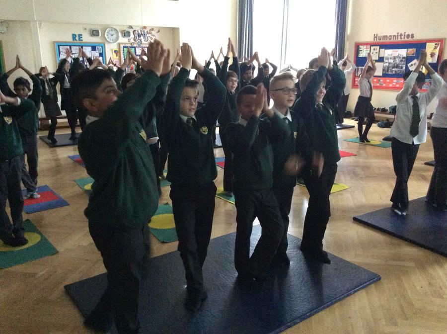 Yoga with M5, what a relaxing way to end the week!