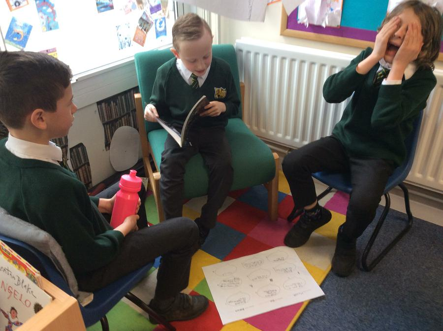 Acting out a dialogue