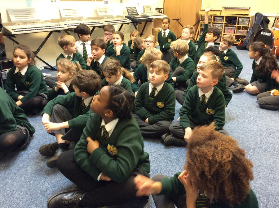 Discussing our Roman compositions in music