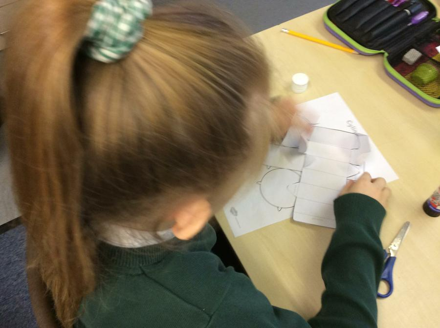 Making 3D shapes from nets.